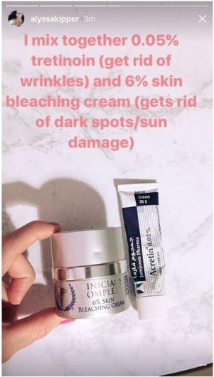 skin bleaching - trentenoin
