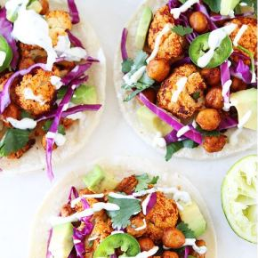 The Yummiest Cauliflower Tacos